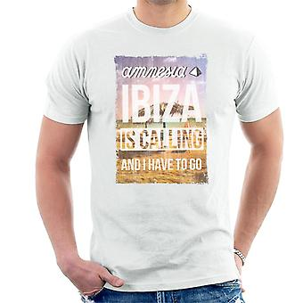 Amnesia Ibiza Is Calling Men's T-Shirt