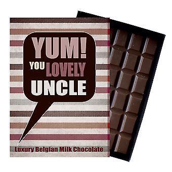 Gift for Uncle Luxury Boxed Chocolate Greetings Card Present YUM115