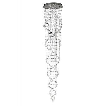 Diyas Colorado Pendant Tall Corkscrew 9 Light Polished Chrome / Crystal