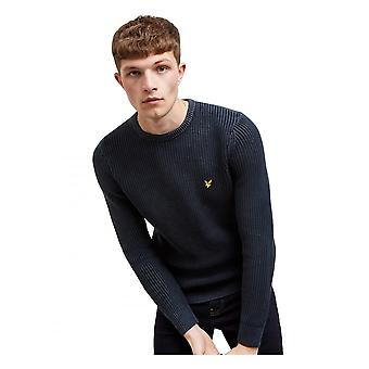 Lyle & Scott Lyle Ribbed Jumper Dark Navy