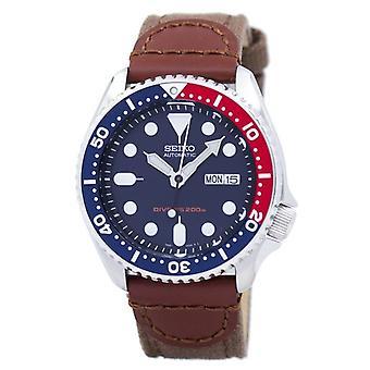 Seiko automaattinen sukeltaja ' s Canvas hihna Skx009k1-ns1 200m miehet ' s Watch