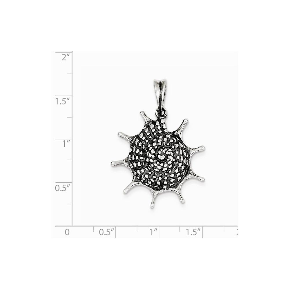925 Sterling Silver Solid Open back and Polished Seashell Pendant Necklace Jewelry Gifts for Women