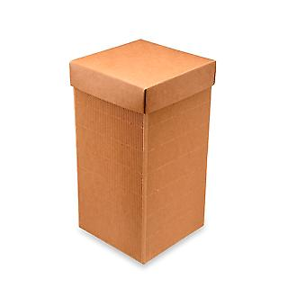 10 Corrugated Kraft 24cm Card Gift Boxes & Lids for Wedding Favours