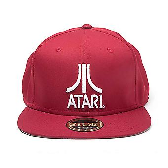 Atari Baseball Cap Classic Logo new Official Retro Gamer Red Snapback