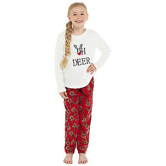 Kinder Neuheit OH Hirsch Fleece Pyjama Set