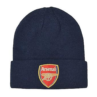 Arsenal FC Adults Unisex Crest Cuff Knitted Beanie