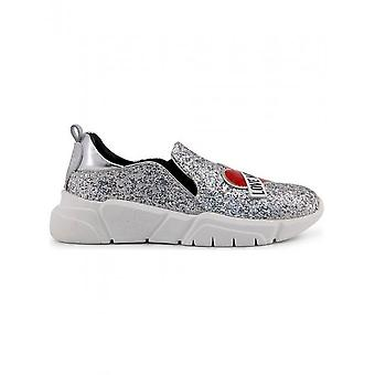 Love Moschino - Shoes - Sneakers - JA15083G16IG_0902 - Women - silver,white - 40