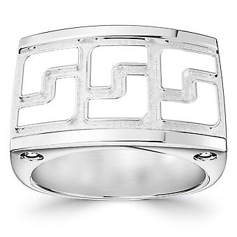 Weiß auf weiß Mode Ring In Sterling Silber