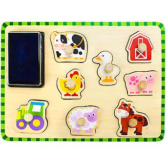 Puzzle stampers animale Barnyard