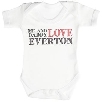 Me & Daddy Text Love Everton Baby Bodysuit / Babygrow