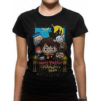 Harry Potter-Cute Poster Art Fotl Equipado T-Shirt, as mulheres