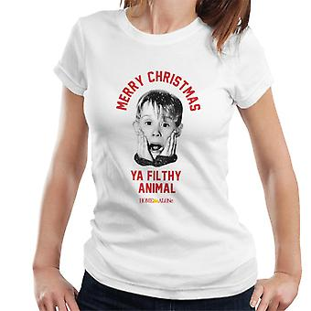 Home Alone Christmas Filthy Animal Women's T-Shirt