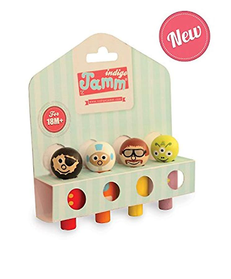 Indigo Jamm Wooden People Assortment - Comes Complete With 4 Wooden People