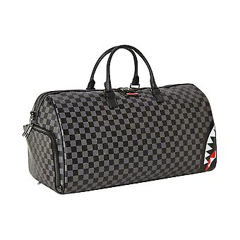 Sprayground Grey Sharks In Paris Duffle Bag
