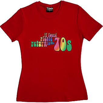If Found Please Return To The 70s Red Women-apos;s T-Shirt