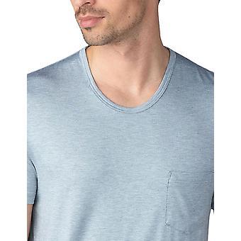 Mey 65630-620 Men's Jefferson Light Grey Melange Short Sleeve Top