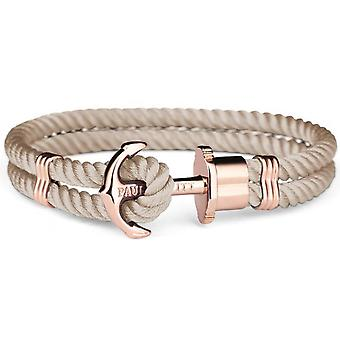 Bracelet Paul Hewitt PH_PH_N_R_H - anchor IP Rose Nylon mixed hazelnut Steel Bracelet