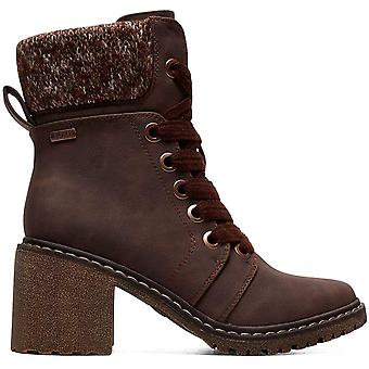 ROXY Womens Whitley - Heeled Lace-Up Boots - Women - US 8 - Brown Chocolate U...