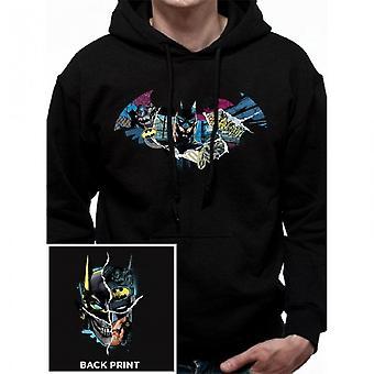 Batman Unisex aikuisten Pullover Huppari Gotham kasvot suunnittelu