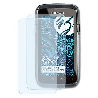 Bruni 2x Screen Protector compatible with Honeywell Dolphin CT60 Protective Film