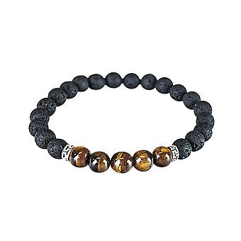 Bracelet with volcanic stone - Brown
