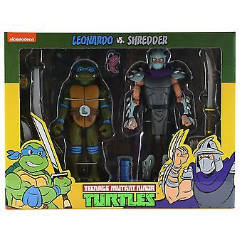 Teenage Mutant Ninja Turtles Leonardo vs Shredder Figure 2Pk