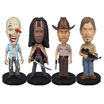 De Walking Dead Mini Wacky Wobbler 4 Pk