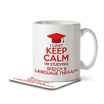 I Can't Keep Calm I'm Studying Speech & Language Therapy - Mug and Coaster
