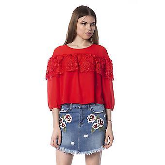 Top Red Silvian Heach Woman