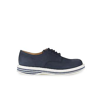 CHURCH'S LEYTON 4 NABUK NAVY LACE UP