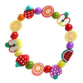 Children's Funky Fimo Tutti Frutti Elasticated Bracelet