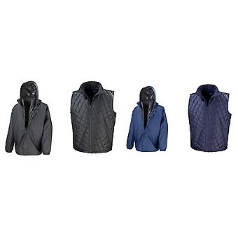 Result Mens Core 3-in-1 Jacket With Quilted Bodywarmer Jacket