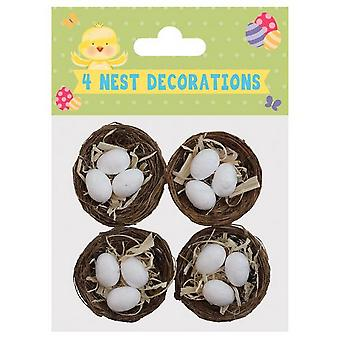 Eurowrap Easter Nests & Eggs (Pack of 4)