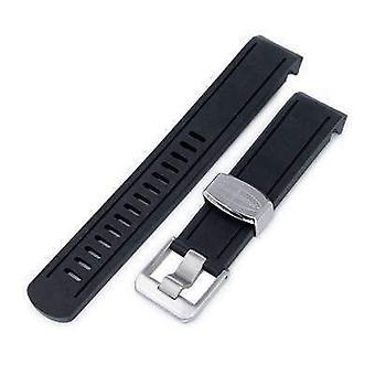 כתפיות גומי רצועת שעון רצועה 20mm crame כחול-שחור גומי מעוקל הלהקה שעון להקק סומו sbdc001