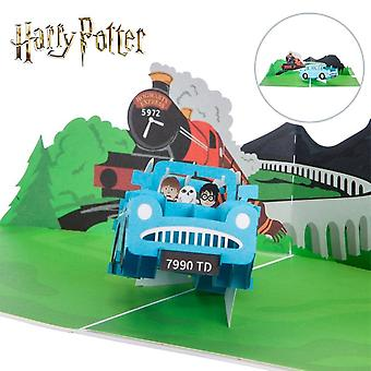 Cardology Harry Potter Ford Anglia Hand Made Pop Up Card