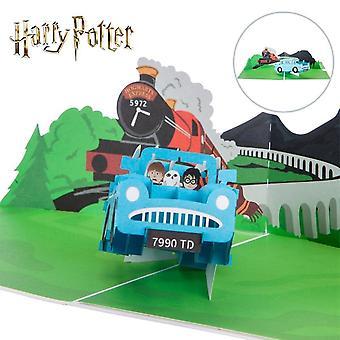 Cardologie Harry Potter Ford Anglia Hand Made Pop Up Carte