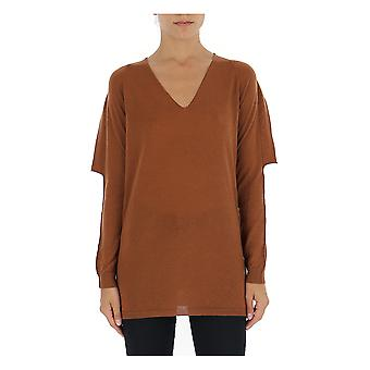 Rick Owens Ro19f5693m173 Women's Brown Wool Sweater
