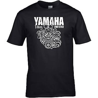 Yamaha VMAX 1200 Engine Classic - Motorcycle Motorbike Biker - DTG Printed T-Shirt