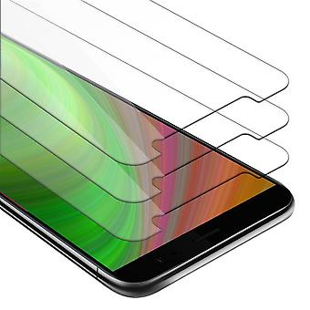 Cadorabo 3x Tank Foil for HTC U11 PLUS - Protective Film in KRISTALL KLAR - 3 Pack Tempered Display Protective Glass in 9H Hardness with 3D Touch Compatibility