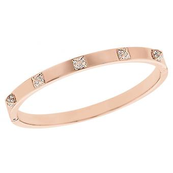 Swarovski Tactic Rose Gold Tone Plated & Clear Crystal Thin Bangle