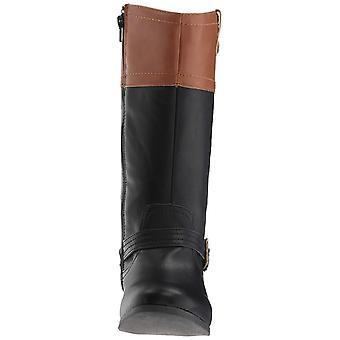 Kids Nine West Girls Emiliah Lederen Knie Hoge Rits Chelsea Boots