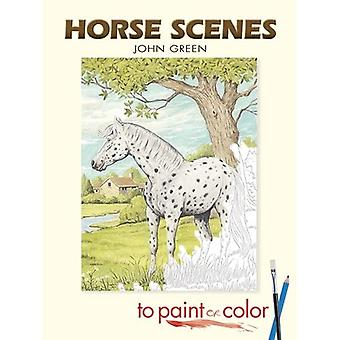 Horse Scenes to Paint or Color (Dover Pictorial Archive)