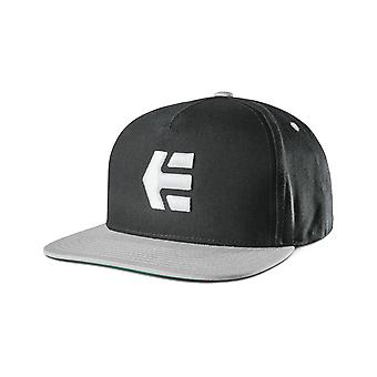 Etnies Icon Snapback Cap in Black/Silver