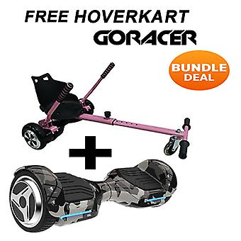 G PRO Camo Segway with a Racer Hoverkart in Pink