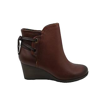 Cobb Hill Womens Lucinda back tie bt Leather Closed Toe Ankle Fashion Boots