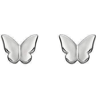 Elemente Silber Schmetterling Ohrstecker - Silber