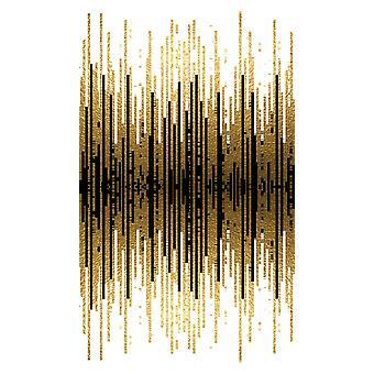 Frequence 1 Mehrfarbiger Teppich aus Polyester, Baumwolle, L80xP300 cm
