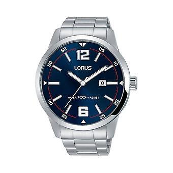 Lorus RH977HX-9 Silver Tone Blue Dial Wristwatch