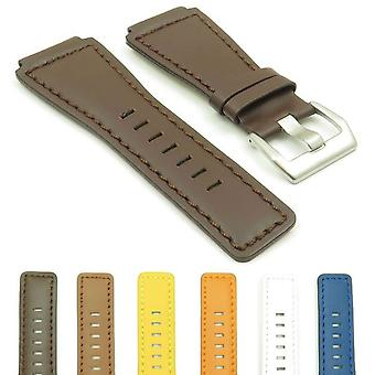 Bell and ross watch strap dassari magnum genuine leather stainless steel buckle