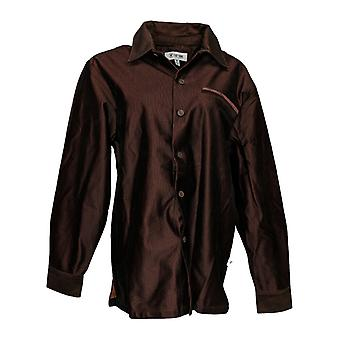 Stacy Adams Men's Long Sleeves Button-Down Corduroy Shirt Jacket Brown